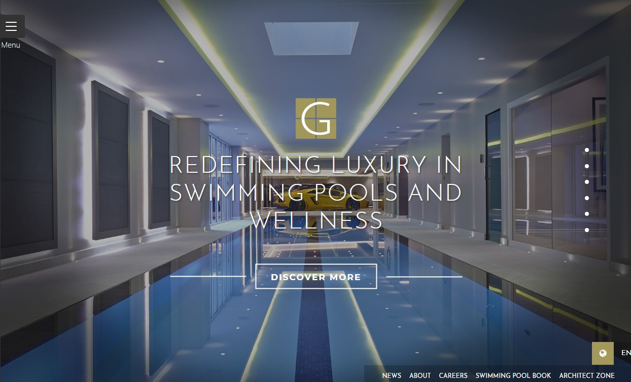 Luxury Swimming Pool & Spa company Guncast took home the coveted title of 'Website of the Year' at this year's UK Pool & Spa Awards.