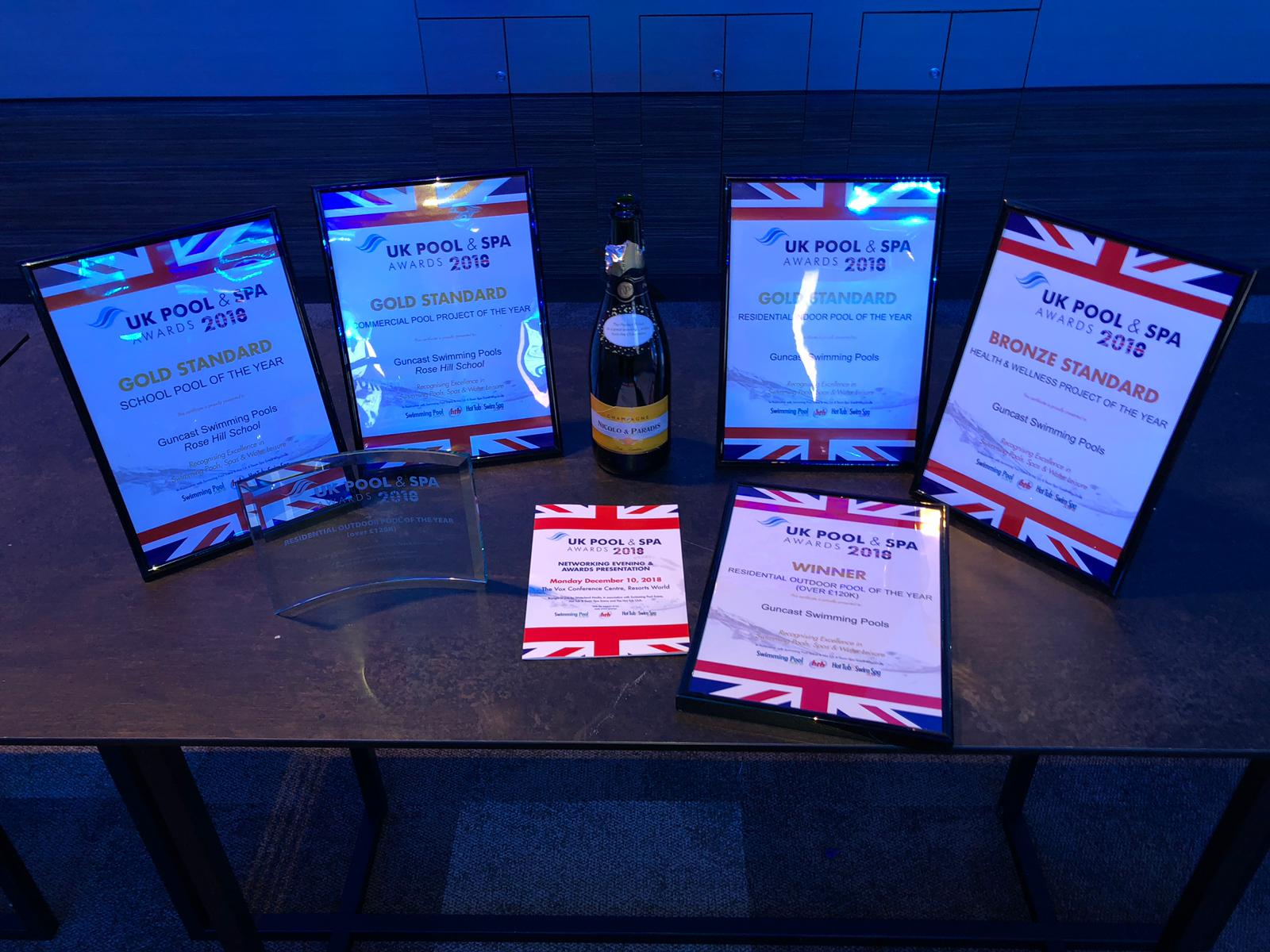 Guncast wins at the 2018 UK Pool & Spa Awards