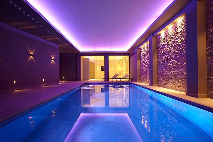 Colourful Basement Pool London