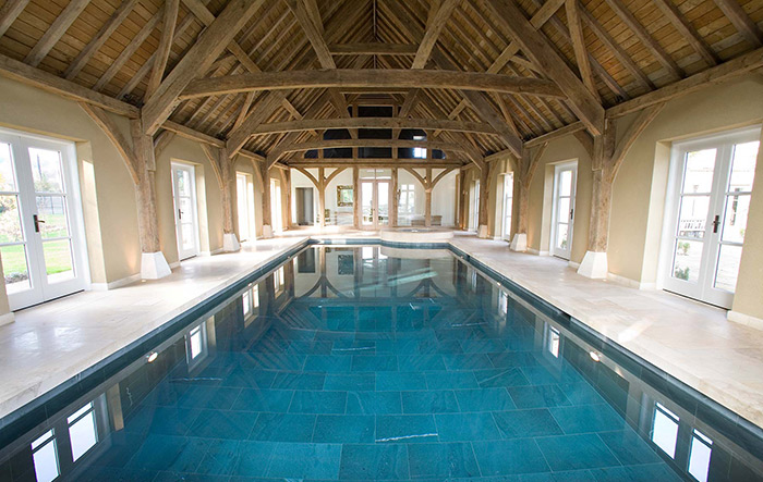 Barn Conversion Indoor Swimming Pool in Oxfordshire