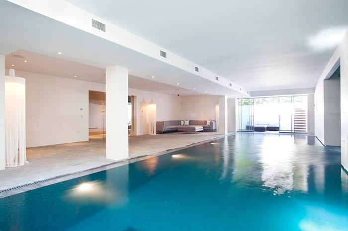 Basement Indoor Swimming Pool with Wellness Suite Wimbledon