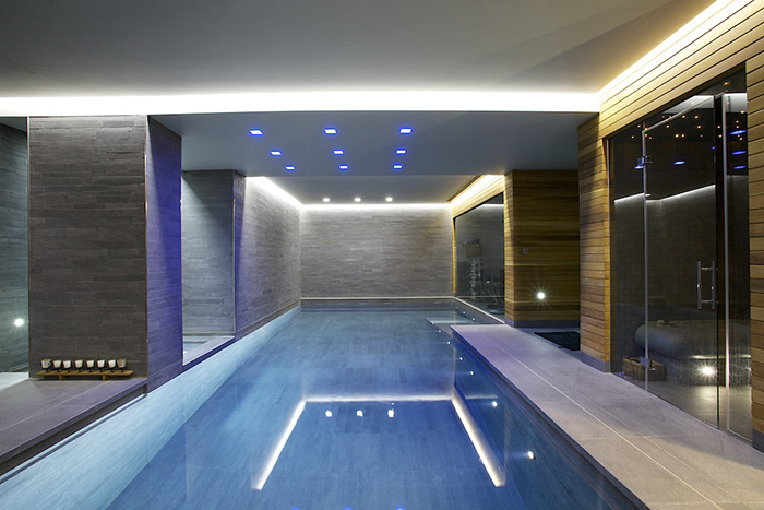 Indoor Bespoke Luxury Swimming Pool and Spa Area