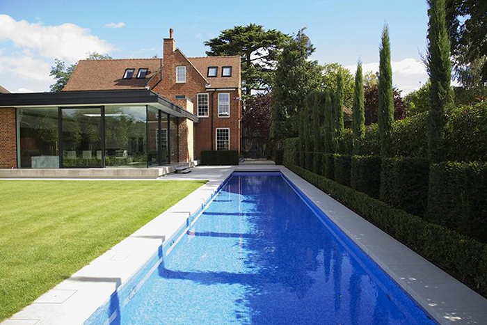 Bespoke Design for a Guncast Outdoor Swimming Pool in Surrey