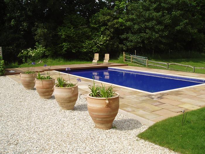 Classic Luxury Outdoor Swimming Pool in Surrey