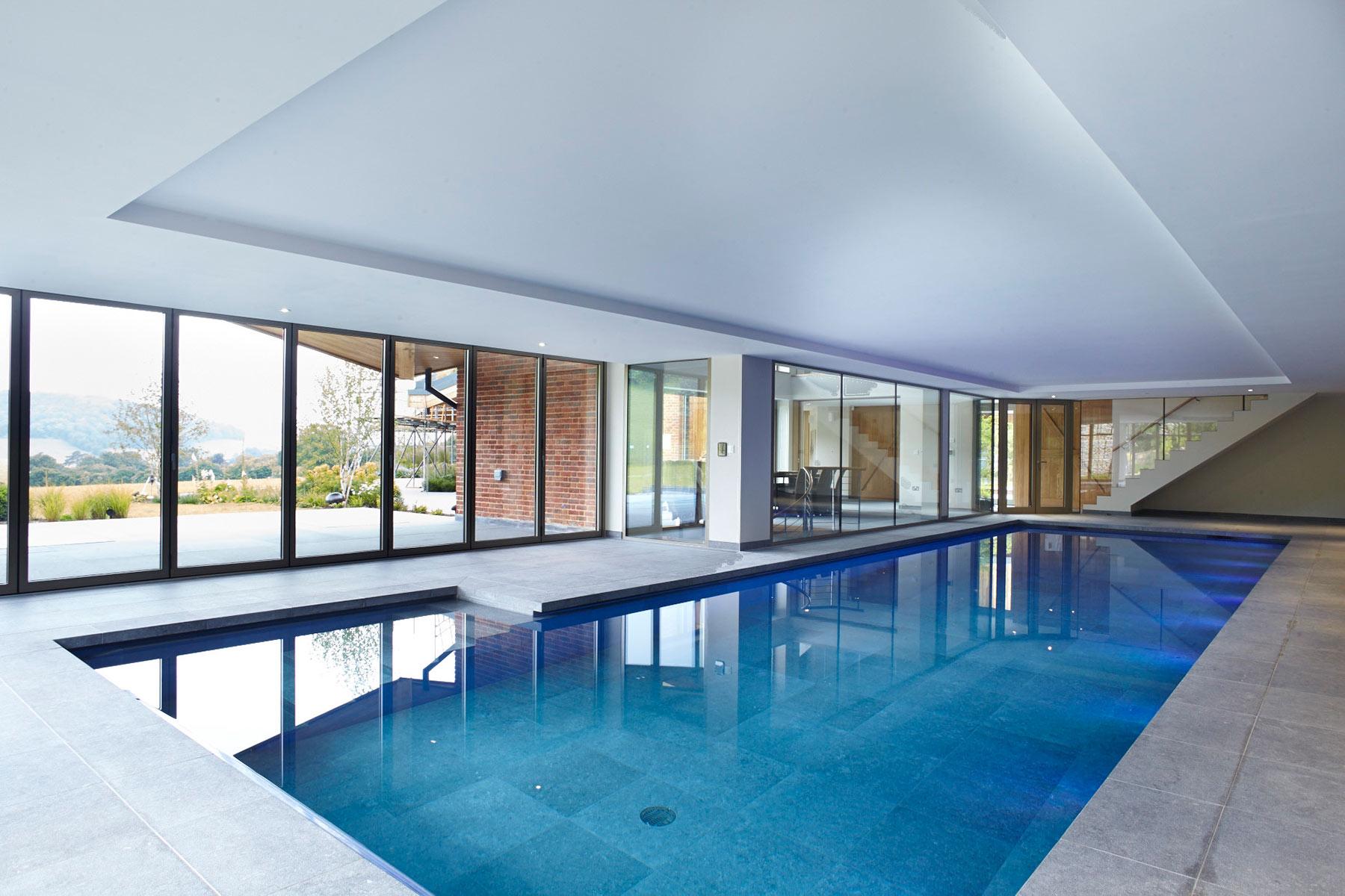 Indoor Swimming Pool with Lighting in Buckinghamshire