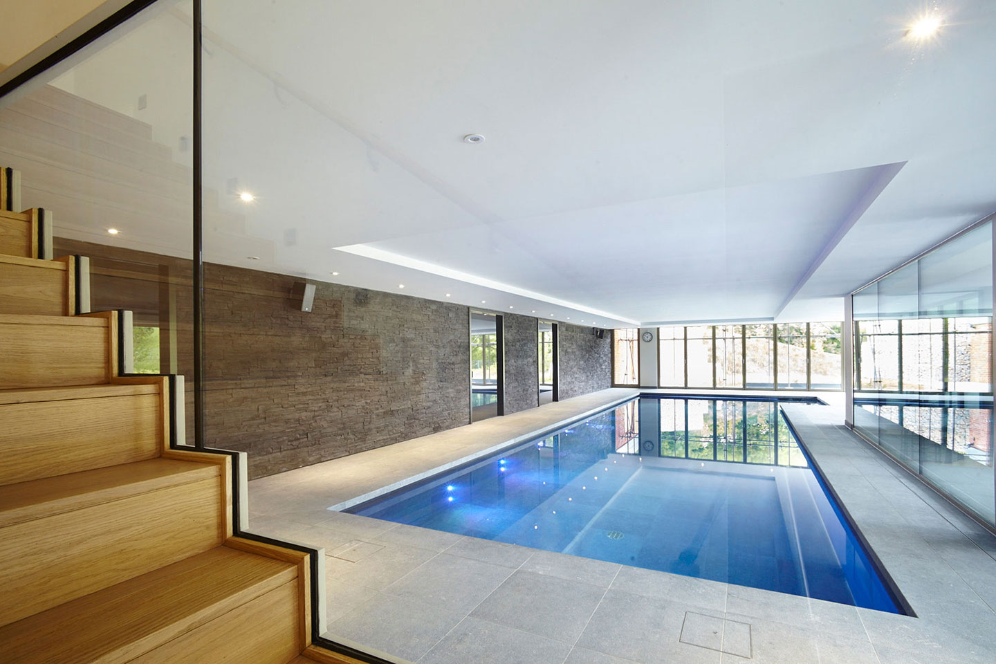 Indoor Swimming Pool with Lighting in Buckinghamshire
