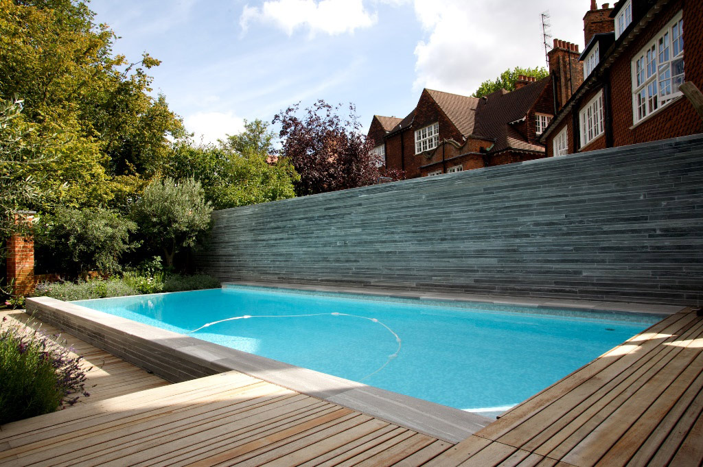 Infinity Edge Outdoor Swimming Pool in Hampstead, London