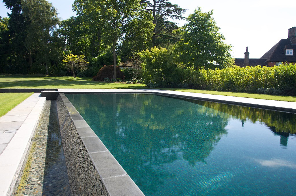 Japanese-Inspired Outdoor Swimming Pool in Surrey