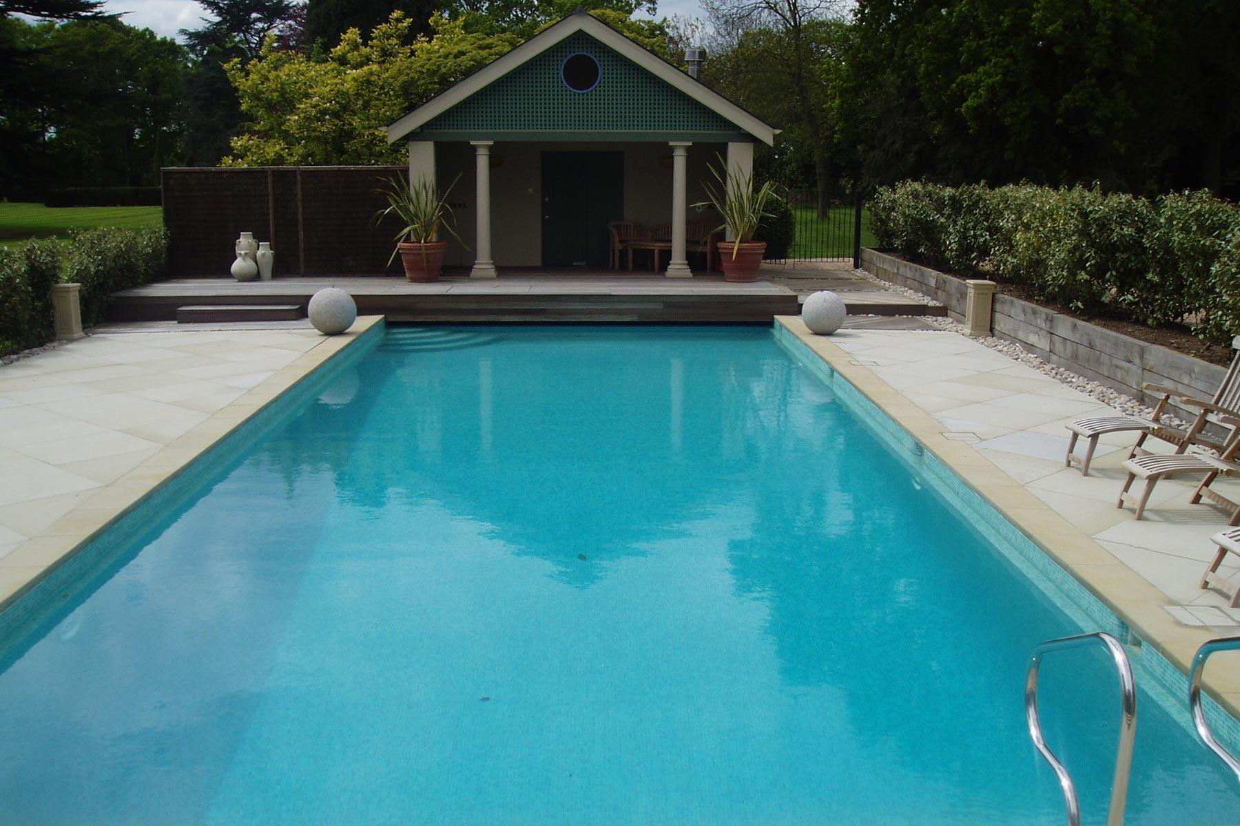 Large Outdoor Swimming Pool in London