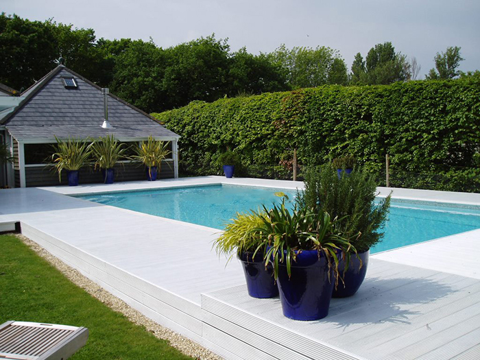 Serene Outdoor Swimming Pool in Surrey