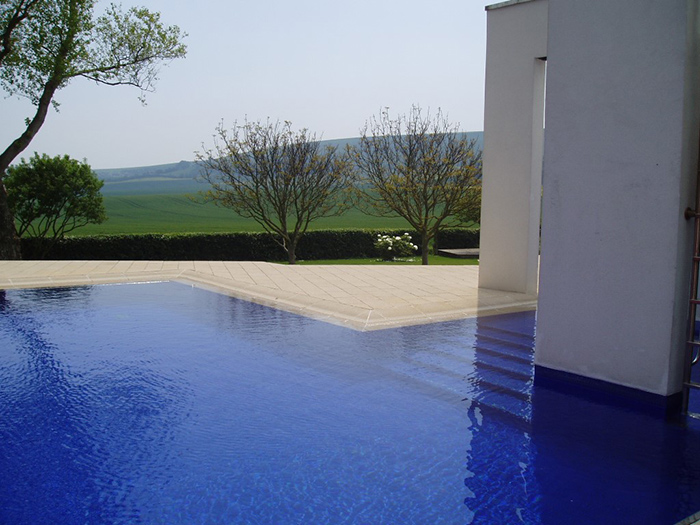 Stunning Blue Outdoor Swimming Pool in Sussex