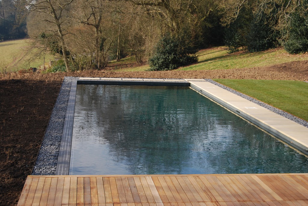 Surrey Outdoor Swimming Pool with Landscaped Gardens