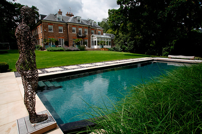Outdoor Natural Swimming Pool in Surrey