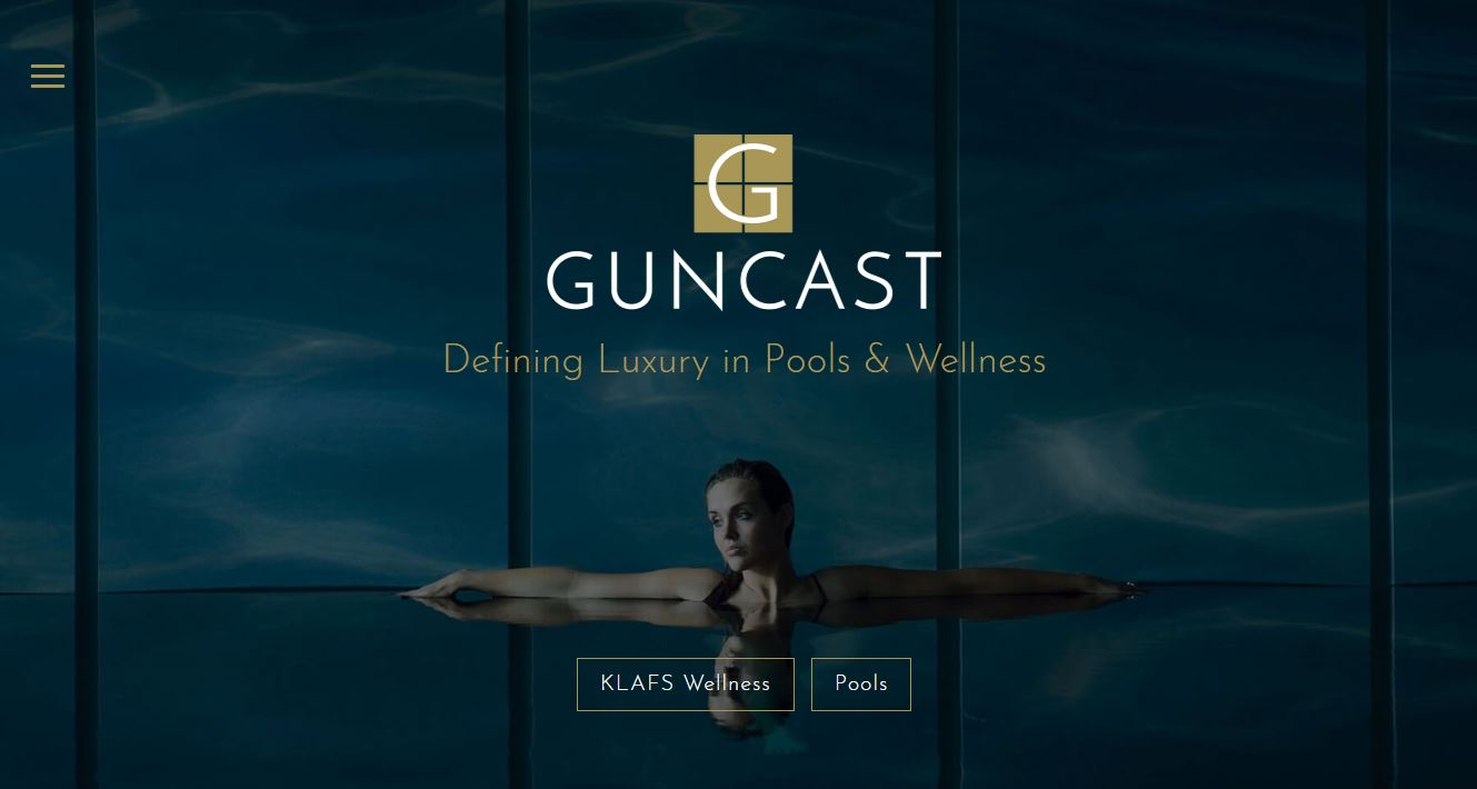 New website for luxury pool ideas, KLAFS saunas & more