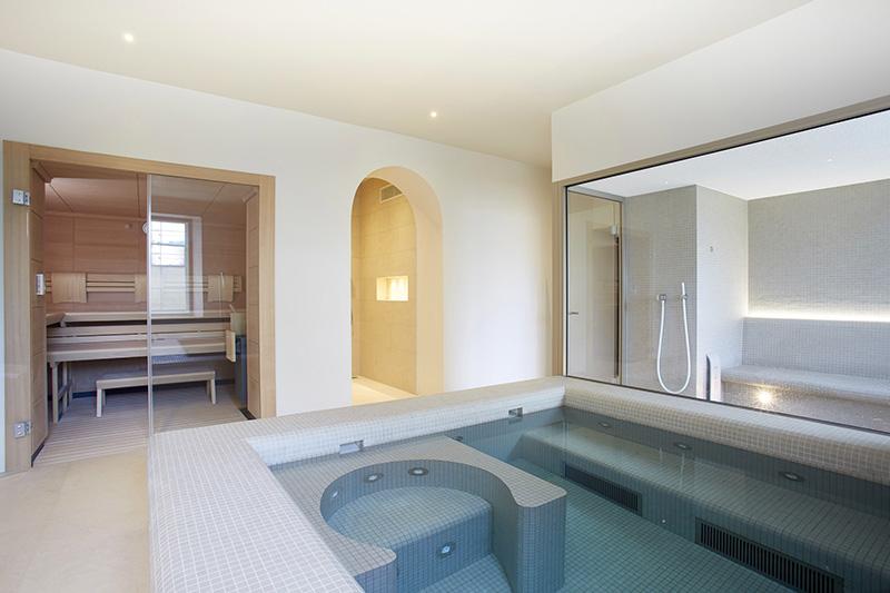 KLAFS indoor wellness area and spa pool