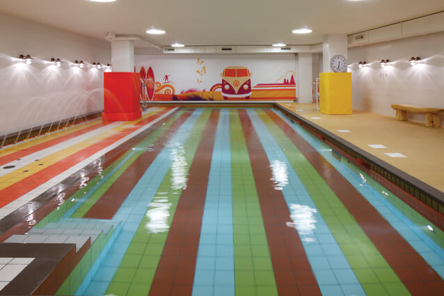 Unique swimming pool design for children