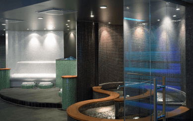 euphoric sauna and steam room in thermal cabin