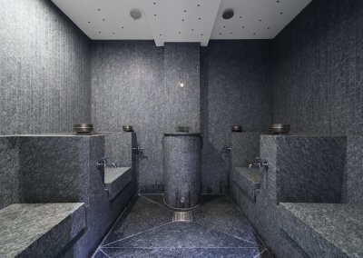 Mud bath cabins