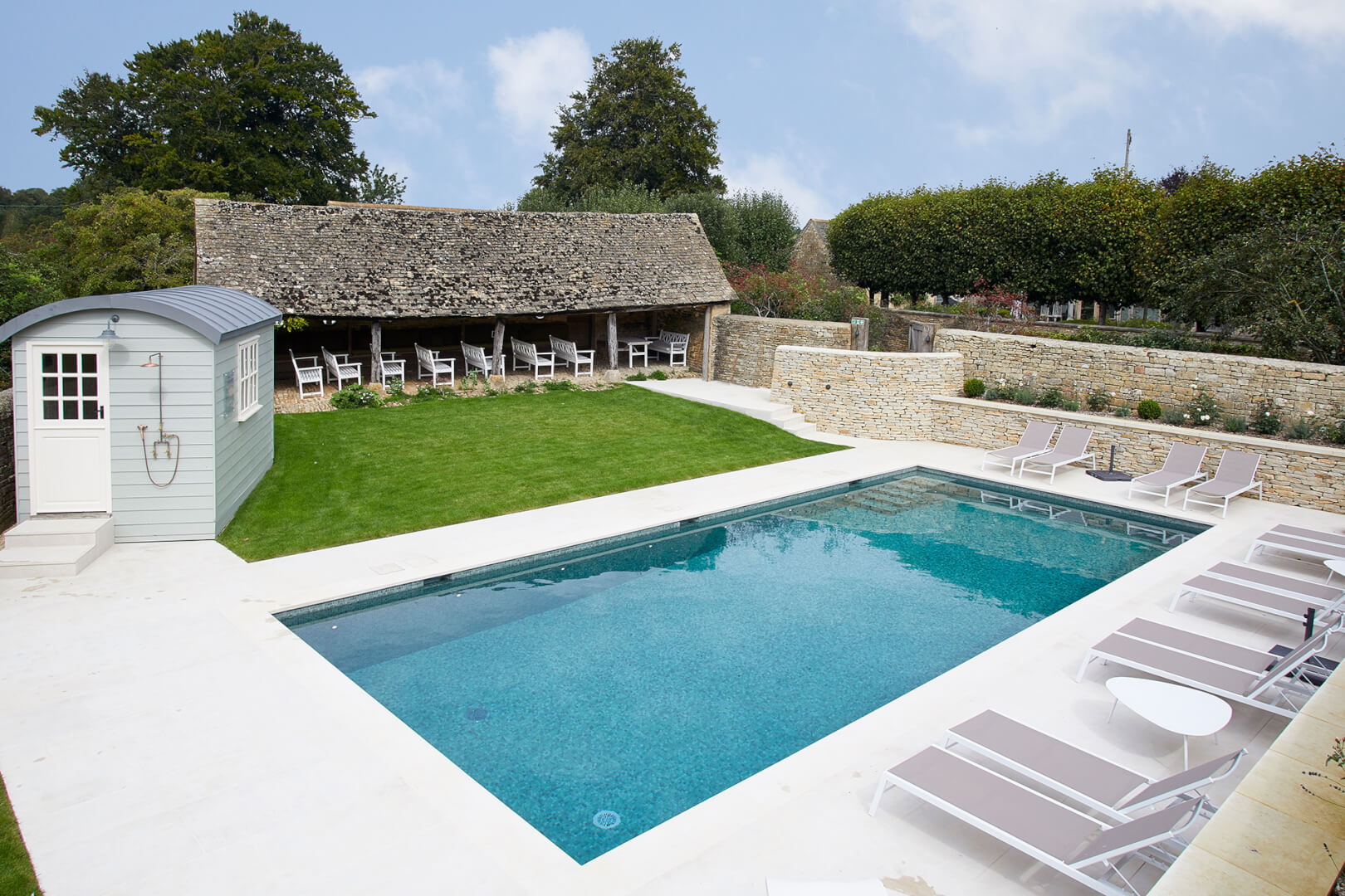 Luxury Residential (Commercial) Outdoor Swimming Pool in the Cotswolds