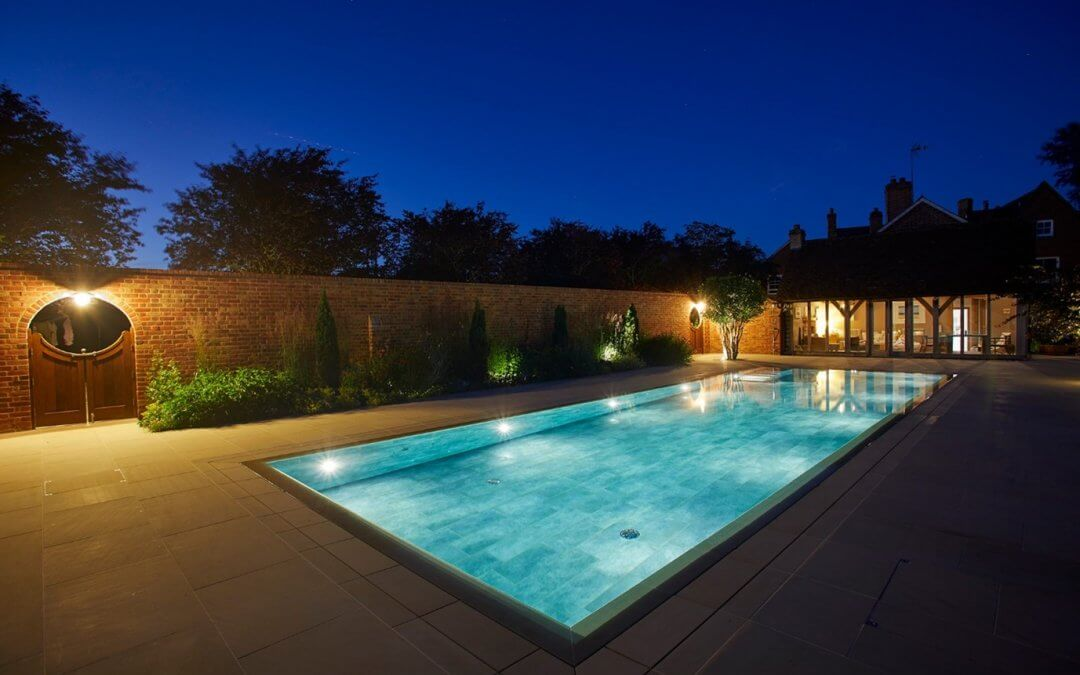 Guncast luxury swimming pool becomes focal point of beautifully landscaped family home