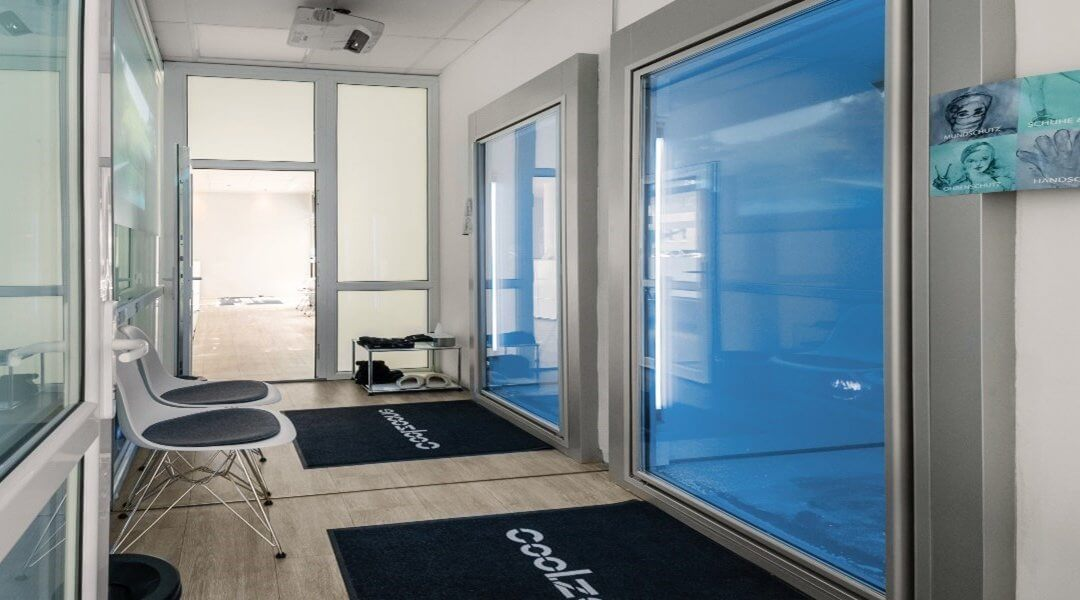 Cryotherapy Experience Lounge Designed by KLAFS from Guncast